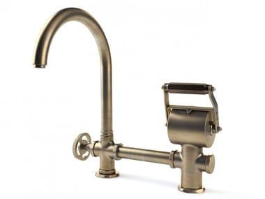 Countertop 1 hole brass bridge tap ACETAOG03L | Kitchen tap