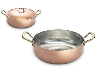 Metal pot with lid with two handles ACGPORS04000 | Pot