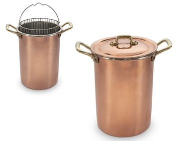 Copper stockpot with lid ACGPORS10000 | Pot