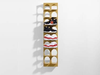 Wall mounted powder coated aluminium shoe cabinet ACHTER