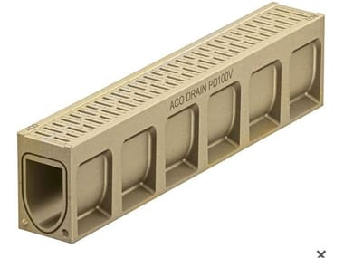 Polymere concrete Drainage channel and part ACO DRAIN® MONOBLOCK PD100 V