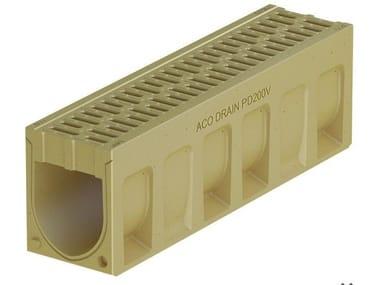 Canale di drenaggio in calcestruzzo polimerico ACO DRAIN® MONOBLOCK PD150 V