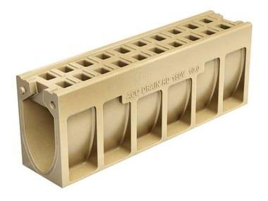 Canale di drenaggio in calcestruzzo polimerico ACO DRAIN® MONOBLOCK RD 150 V