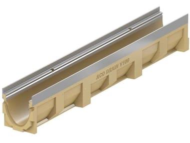 Canale di drenaggio in calcestruzzo polimerico ACO DRAIN® MULTILINE V100 - 100 mm