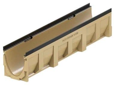 Canale di drenaggio in calcestruzzo polimerico ACO DRAIN® MULTILINE V150 - 100 mm