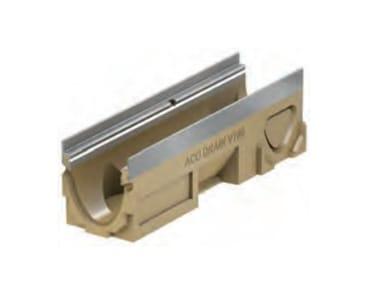 Canale di drenaggio in calcestruzzo polimerico ACO DRAIN® Multiline V100 - 500 mm