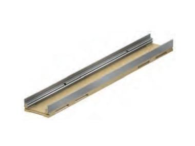Canale di drenaggio a basso spessore in cls polimerico ACO DRAIN® Multiline V100 basso spessore