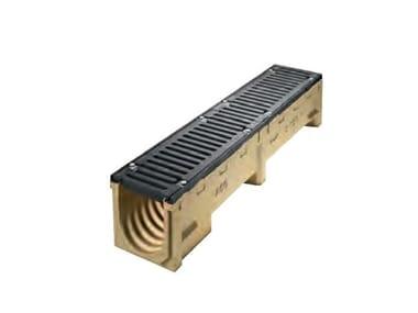 Elemento e canale di drenaggio in calcestruzzo ACO DRAIN Serie S 150