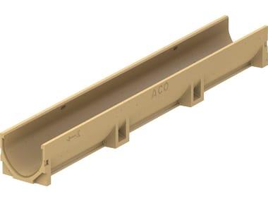 Elemento e canale di drenaggio in calcestruzzo polimerico ACO Self® Euroline 100