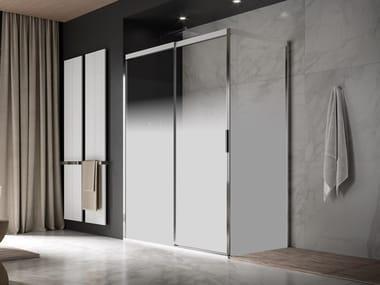 Cabina doccia in alluminio e vetro con porta scorrevole ACQUA 5000 NEW | Box doccia rettangolare