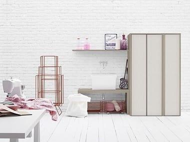 Mobile lavanderia componibile per lavatrice ACQUA E SAPONE COMP. 3
