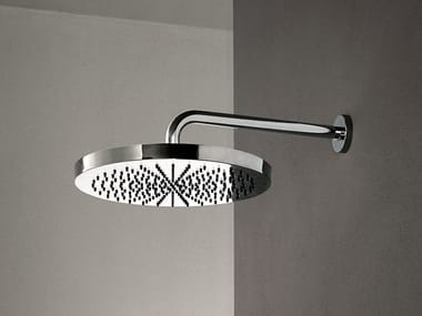 Contemporary style wall-mounted 2-spray stainless steel rain shower ACQUAFIT 38 K073+02 8027 | Round overhead shower