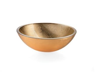 Washbasins ACQUAIO | Lavabo in vetro foglia oro