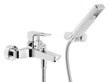 Wall-mounted bathtub mixer with hand shower ACQUAVIVA | Bathtub mixer with hand shower