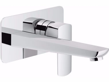 Wall-mounted washbasin mixer with flow limiter ACQUAVIVA | Wall-mounted washbasin mixer