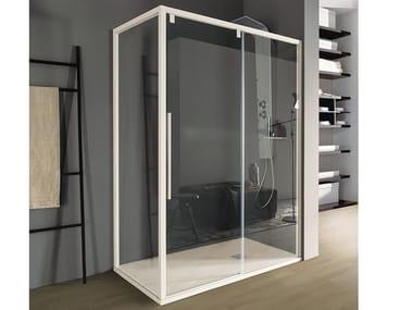 Box doccia con porta scorrevole a due ante in cristallo ACRUX | Box doccia in cristallo