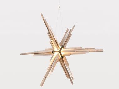 LED wooden pendant lamp ACRUX