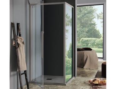 Box doccia rettangolare con porta a battente ACRUX | Box doccia con porta a battente