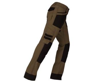 Pantalone elasticizzato slim ACTIVE CASTORO/NERO