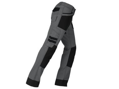 Pantalone elasticizzato slim ACTIVE GRIGIO/NERO