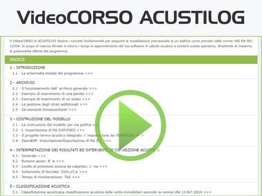 Progettazione e classificazione acustica degli edifici VideoCORSO ACUSTILOG
