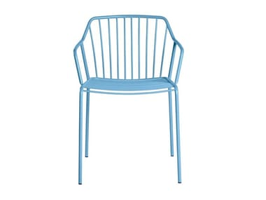 Metal chair with armrests ADA | Chair