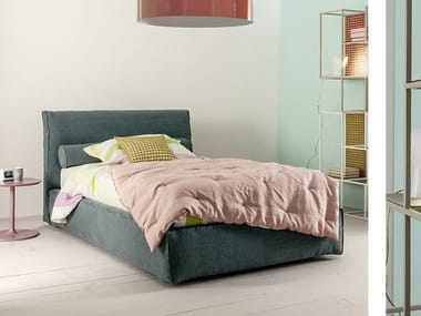 Single bed with upholstered headboard ADA | Single bed