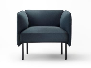 Fabric armchair with armrests ADAPT | Armchair
