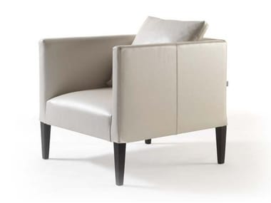 Leather armchair with armrests ADELE SOFT   Leather armchair