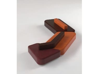 Modular leather bench seating AERO | Bench seating