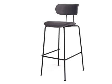 High fabric stool with back AFM | Fabric stool