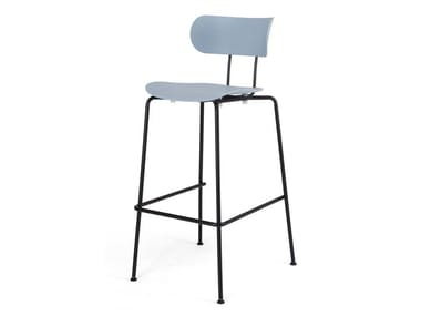High plastic stool with back AFM | Plastic stool