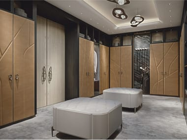 Custom wooden walk-in wardrobe AFRODITE | Walk-in wardrobe