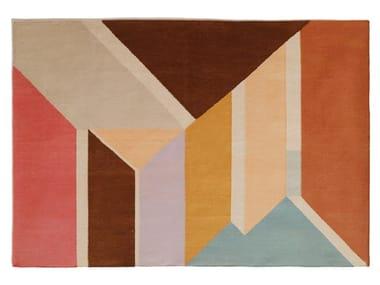 Tappeto fatto a mano rettangolare a motivi geometrici AFTERNOON DREAM