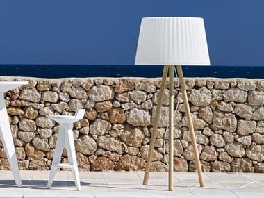 Poleasy® floor lamp AGATA WOOD