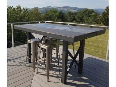 Dekton® high table with warming module AGATHE | High table