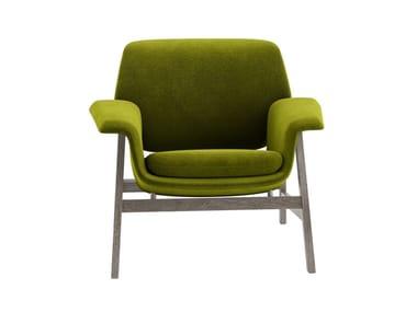 Fabric armchair with armrests AGNESE | Armchair