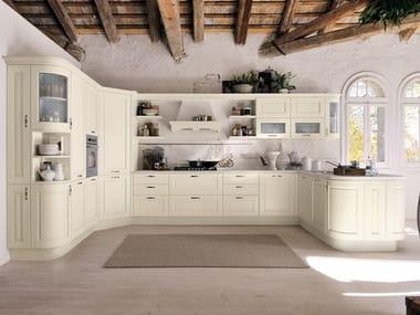 Wooden kitchen with handles AGNESE | Kitchen