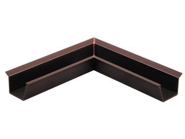 Angolo interno per canale di gronda a doppia parete in PVC AIG2