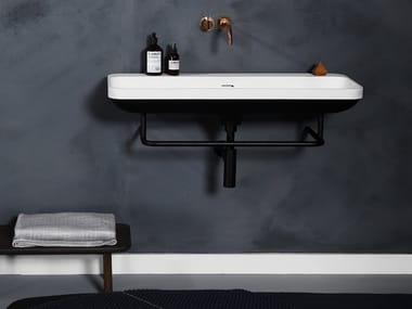 Wall-mounted Cristalplant® washbasin AIM | Washbasin