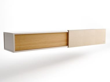 Madia sospesa in legno con ante scorrevoli AIR