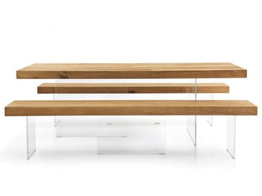 Wood and glass bench AIR WILDWOOD | Bench