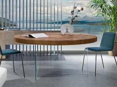 Round wooden table AIR WILDWOOD | Round table