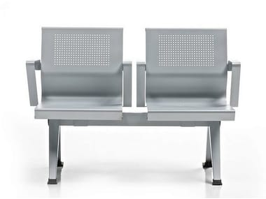 Freestanding beam seating with armrests AIRA | Beam seating