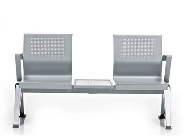 Freestanding beam seating with armrests AIRA | Beam seating with armrests