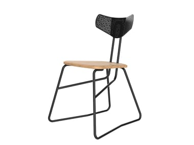 Steel and wood chair AIRO | Steel and wood chair
