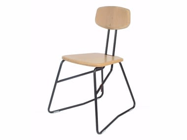 Sled base wooden chair AIRO | Wooden chair