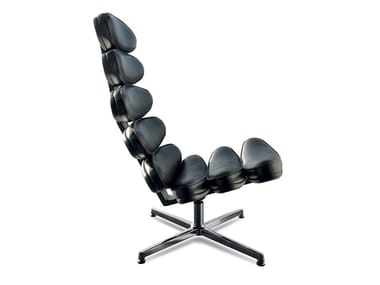 Ergonomic High Back Leather Armchair AIRONE RELAX 112 | Leather Armchair