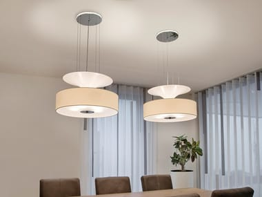 Direct-indirect light pendant lamp AIRWAVE H5+2