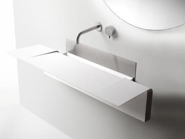 Wall-mounted Cristalplant® Biobased washbasin ALA